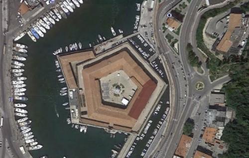 Ancona Hafenfestung - erstellt mit Google Earth