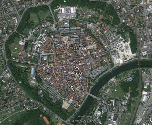 Ingolstadt. Quelle: Google Earth.