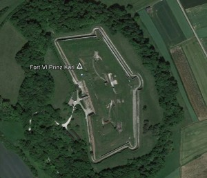 Ingolstadt, Fort Prinz Karl. Quelle: Google Earth.