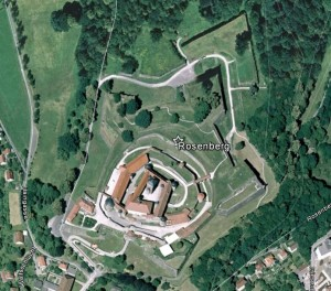 Rosenberg, Kronach. Quelle: Google Earth.