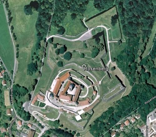 Rosenberg, Kronach. Quelle: Google Earth.