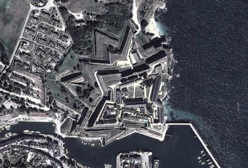 Le Palais - erstellt mit Google Earth