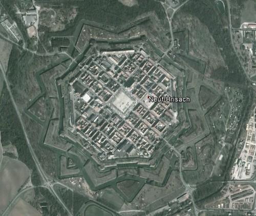 Neuf-Brisach (Neu Breisach) - erstellt mit Google Earth