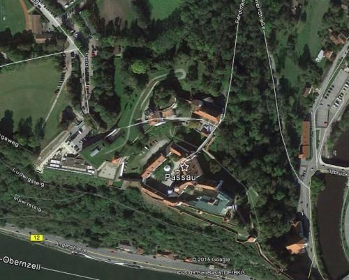 Passau. Quelle: Google Earth.