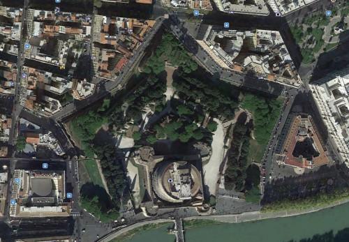 Rom - Castel Sant'Angelo - erstellt mit Google Earth