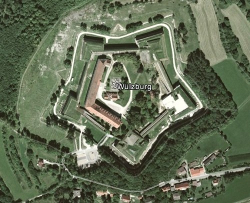 Wülzburg. Quelle: Google Earth.