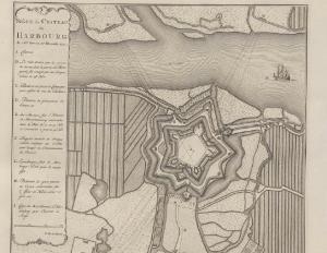 Harburg während der Belagerung 1757. Quelle: Württembergische Landesbibliothek Stuttgart, Sammlung Nicolai.