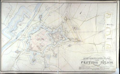 Gesamtkarte der Festung Jülich von 1860.