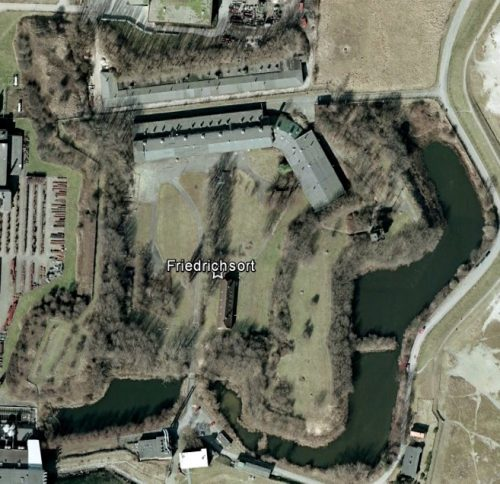 Festung Friedrichsort. Quelle: Google Earth.