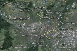 Ulm, Gesamtansicht. Quelle: Google Earth.