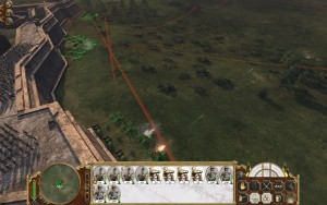 """Artillerie kann für """"künstliche"""" Flankierung sorgen, gedeckt vom Fort."""
